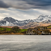 Buy canvas prints of Snowdon Horseshoe Winter by Adrian Evans