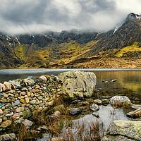 Buy canvas prints of Idwal Lake Snowdonia by Adrian Evans