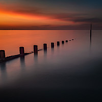 Buy canvas prints of Seascape Sunset by Adrian Evans