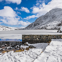 Buy canvas prints of Weir At Ogwen Lake by Adrian Evans