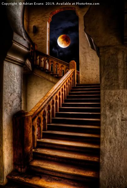 KTM Stairway Moon Canvas print by Adrian Evans