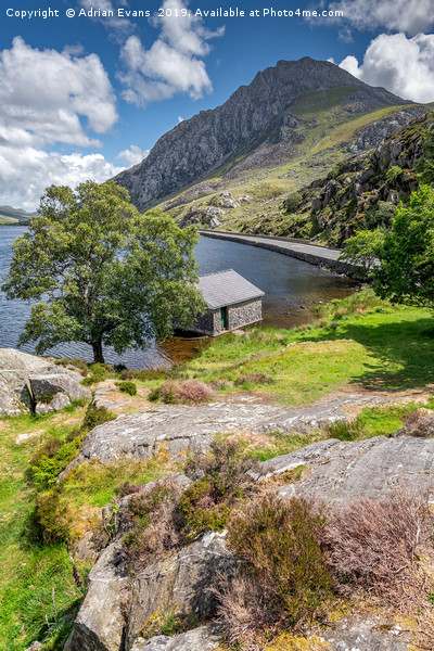 Lake Ogwen and Tryfan Mountain Canvas print by Adrian Evans