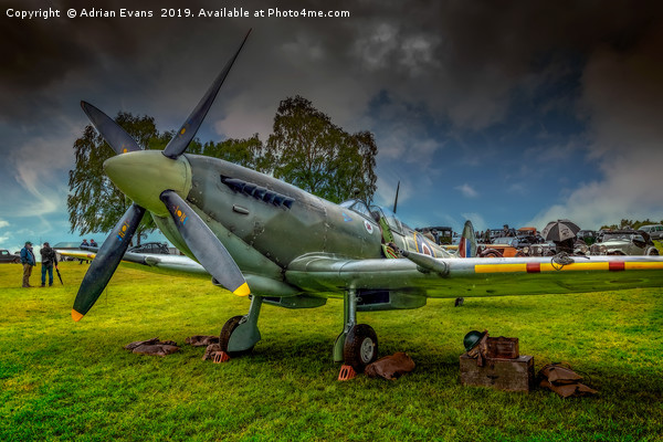 Spitfire Display Canvas print by Adrian Evans