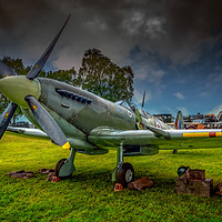 Buy canvas prints of Spitfire Display by Adrian Evans