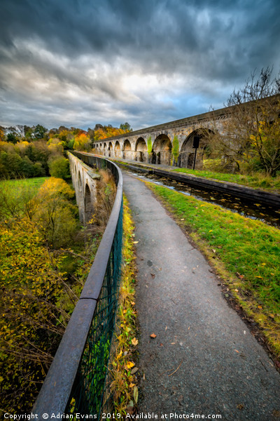Chirk Aqueduct Wales Canvas print by Adrian Evans