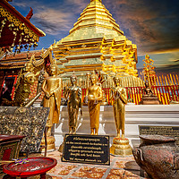 Buy canvas prints of Phrathat Doi Suthep Temple Thailand by Adrian Evans