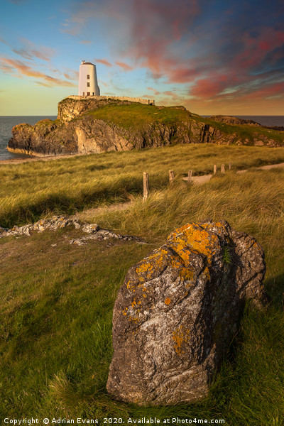 Llanddwyn Tower Anglesey Wales Canvas print by Adrian Evans