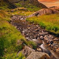 Buy canvas prints of Tryfan Mountain East Sunset Snowdonia by Adrian Evans