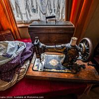 Buy canvas prints of Vintage Jones Family Sewing Machine by Adrian Evans