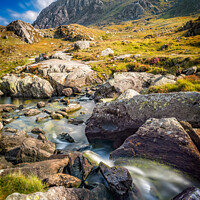 Buy canvas prints of Tryfan Mountain Snowdonia Wales by Adrian Evans