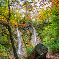 Buy canvas prints of Grey Mares Tail Waterfall Wales by Adrian Evans