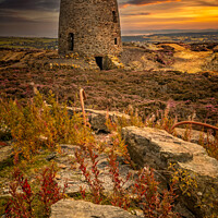 Buy canvas prints of Parys Mountain Windmill Anglesey Wales by Adrian Evans