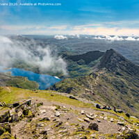 Buy canvas prints of Crib Goch Snowdonia National Park Wales by Adrian Evans