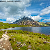 Buy canvas prints of Pen yr Ole Wen Mountain Snowdonia Wales by Adrian Evans