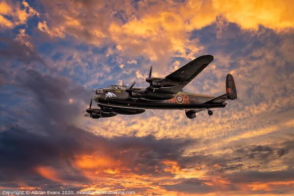Avro Lancaster Bomber  Framed Mounted Print by Adrian Evans