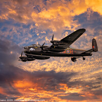 Buy canvas prints of Avro Lancaster Bomber  by Adrian Evans