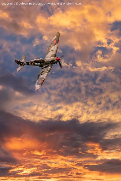 Supermarine Spitfire Canvas Print by Adrian Evans