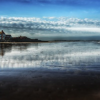 Buy canvas prints of Brancaster beach and golf club by Gary Pearson
