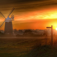 Buy canvas prints of Burnham Overy Staithe windmill #1 by Gary Pearson