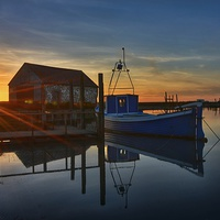 Buy canvas prints of Sunset over the coal barn by Gary Pearson