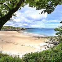 Buy canvas prints of Barafundle bay Pembrokeshire by Gary Pearson