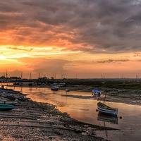 Buy canvas prints of  Sunset over the old granary by Gary Pearson