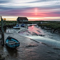Buy canvas prints of  Thornham quay sunset by Gary Pearson