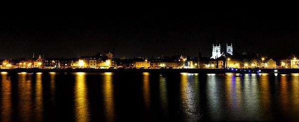 The still of night - South Quay Kings Lynn Canvas print by Gary Pearson