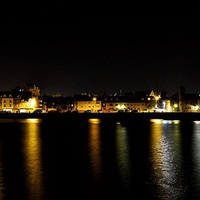 Buy canvas prints of The still of night - South Quay Kings Lynn by Gary Pearson