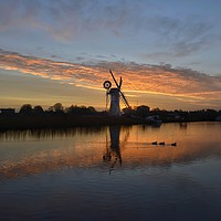 Buy canvas prints of Thurne mill sunrise  by Gary Pearson
