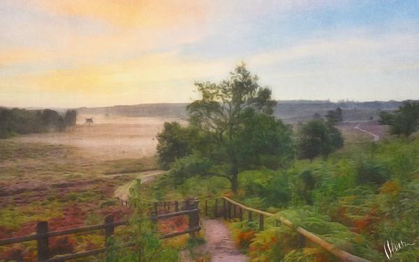 Sunrise at Wolferton  Canvas print by Gary Pearson