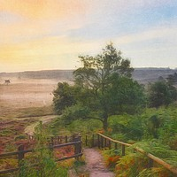 Buy canvas prints of Sunrise at Wolferton  by Gary Pearson