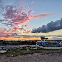 Buy canvas prints of Sunset over the Staithe  by Gary Pearson