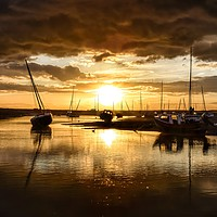 Buy canvas prints of Sunset after the rain - Brancaster Staithe by Gary Pearson