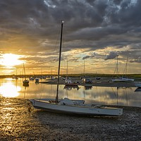 Buy canvas prints of Sunset over Brancaster Staithe by Gary Pearson