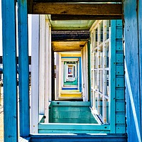 Buy canvas prints of Colourful beach huts at Southwold by Gary Pearson