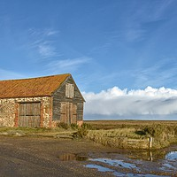Buy canvas prints of The old coal barn - Thornham  by Gary Pearson