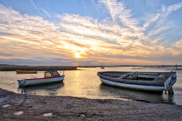 Brancaster Staithe at sunset  Canvas print by Gary Pearson