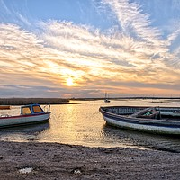 Buy canvas prints of Brancaster Staithe at sunset  by Gary Pearson
