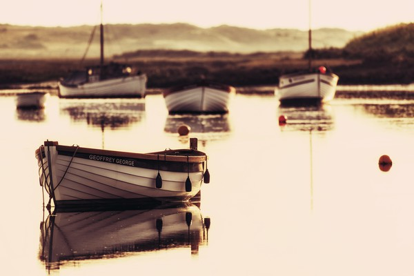 Early morning at Burnham Overy Staithe  Canvas print by Gary Pearson