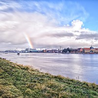 Buy canvas prints of King's Lynn as seen from across the Great Ouse  by Gary Pearson