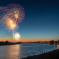 Buy canvas prints of Festival Too fireworks at King's Lynn by Gary Pearson