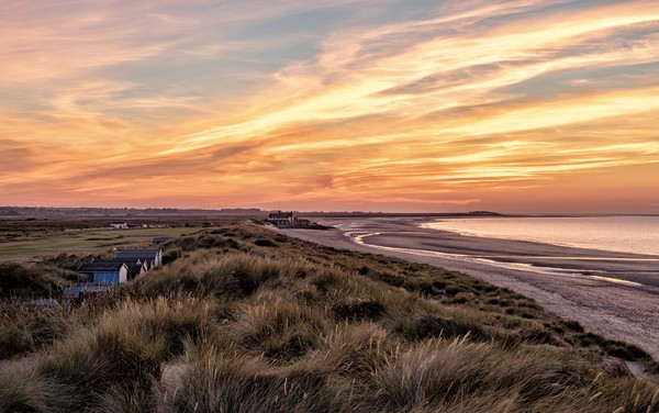 The perfect beach at sunset  - Brancaster in Norfo Canvas print by Gary Pearson