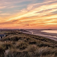 Buy canvas prints of The perfect beach at sunset  - Brancaster in Norfo by Gary Pearson