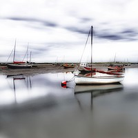 Buy canvas prints of Low tide at Brancaster Staithe in Norfolk  by Gary Pearson
