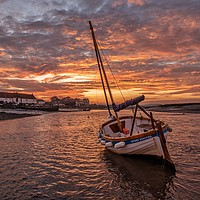 Buy canvas prints of Sunset over Burnham Overy Staithe in Norfolk  by Gary Pearson