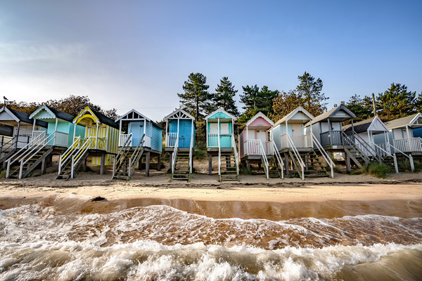 High tide on Wells beach #1 Canvas Print by Gary Pearson