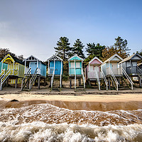 Buy canvas prints of High tide on Wells beach #1 by Gary Pearson