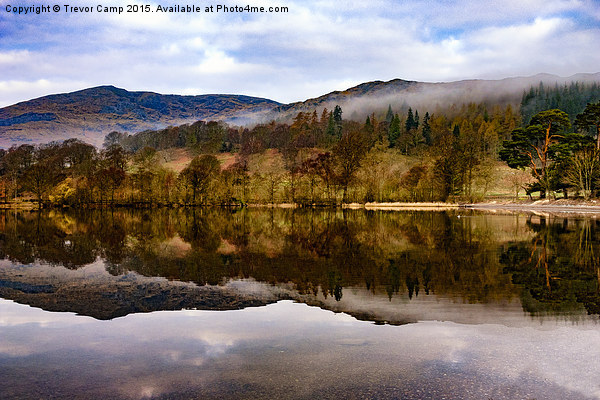 Tranquil Coniston Print by Trevor Camp