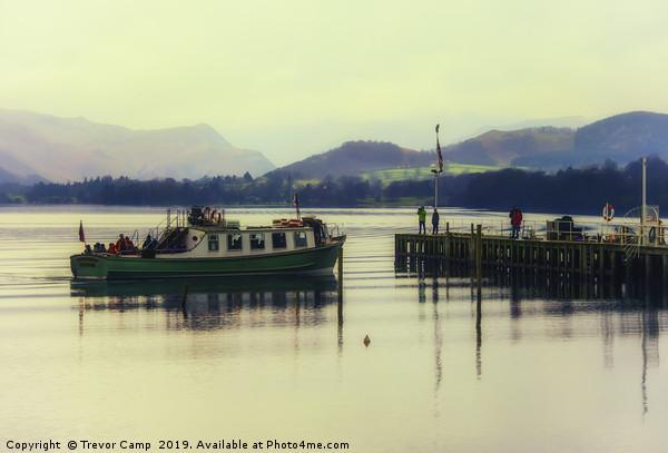 Ullswater Ferry - 04 Canvas print by Trevor Camp